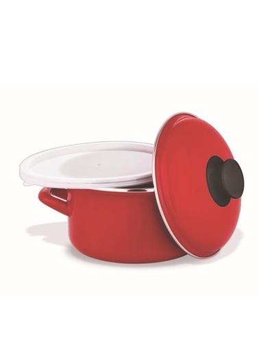 Schafer Pişir Sakla Tencere 18 cm Kırmızı Kırmızı